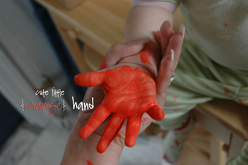 Orange-hand