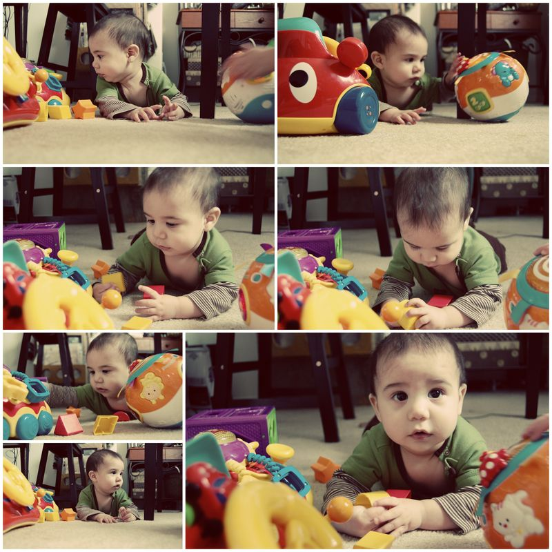 Playing with toys