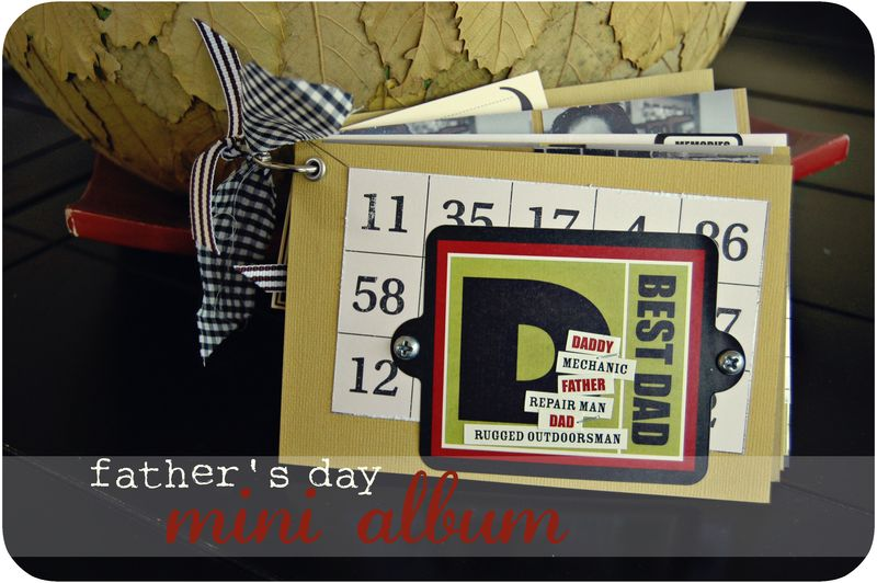 Father's day mini album