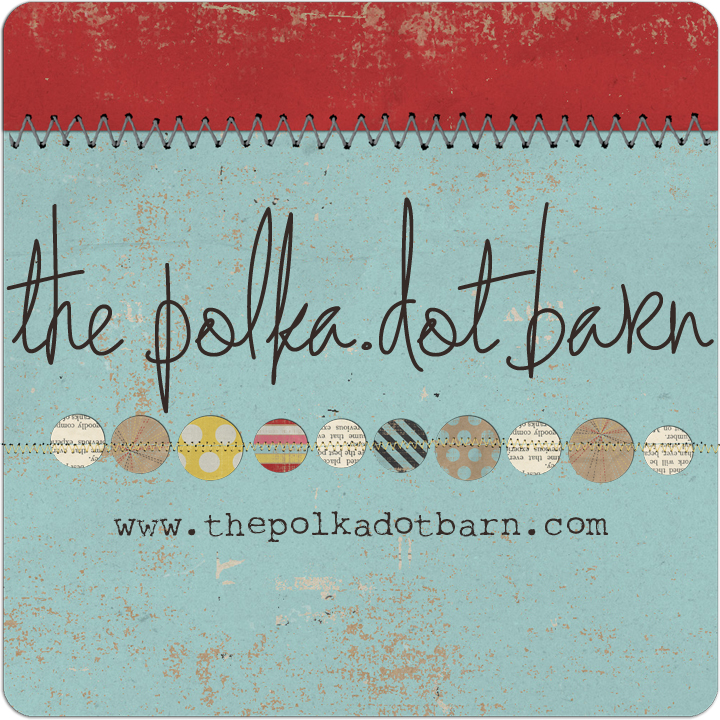 Polka dot barn badge