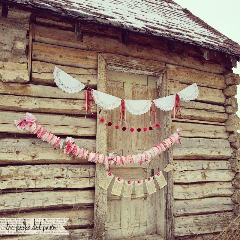 The polka dot barn valentine's old pioneer cabin