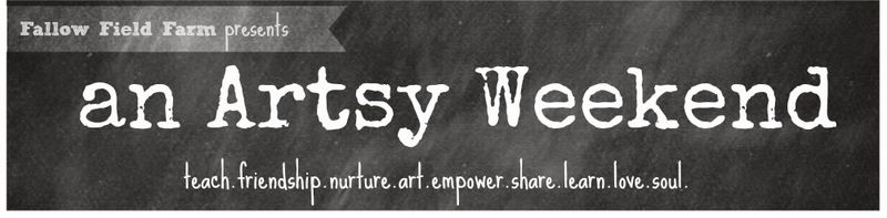 Artsy weekend blog header
