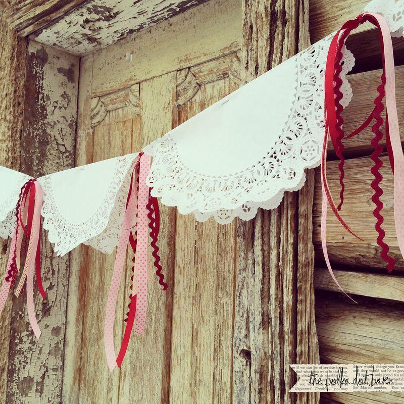 Valentine doily ribbon garland_1