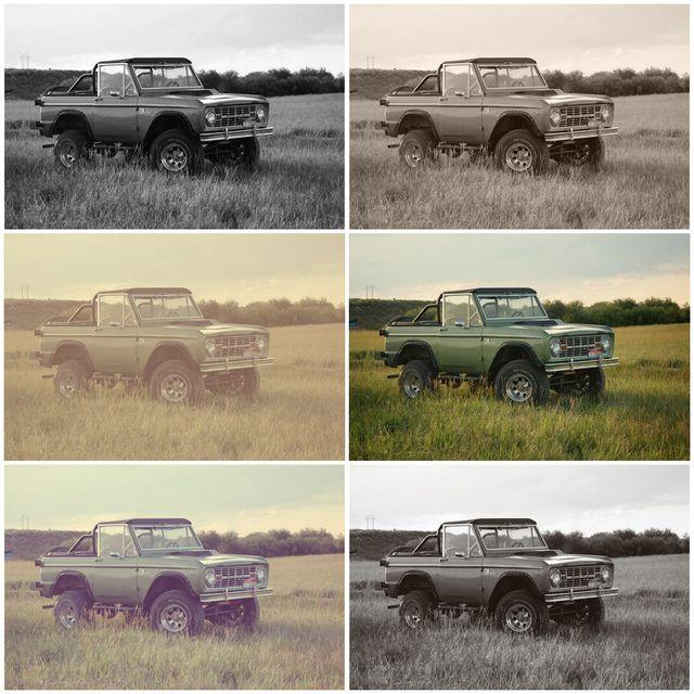 Bronco collage